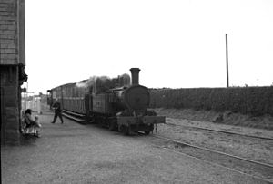 Manx Northern Railway - Ramsey-bound train at Kirk Michael