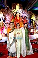 Kajol, Tanuja & Tanisha Mukherjee snapped at North Bombay Sarbojanin Durga Puja.jpg