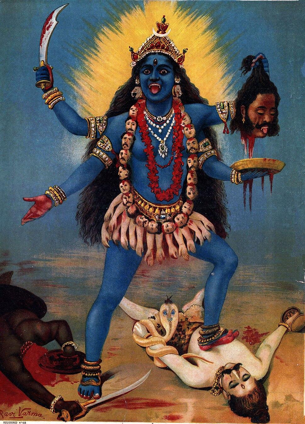 Kali by Raja Ravi Varma