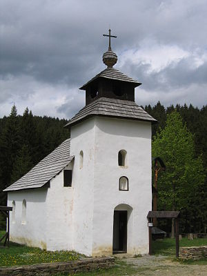 Kysuce - Chapel from the village Zborov nad Bystricou, now located in the open-air museum of Kysuce village
