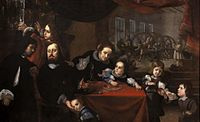 Karel Škréta - Podobizna řezáče drahokamů Dionysia Miseroniho a jeho rodiny (1653).jpg