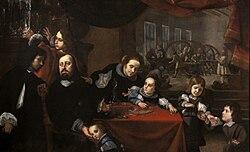 Karel Škréta: Portrait of the Gem-Cutter Dionysius Miseroni and His Family