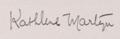 Kathlene Martyn signature 1921.png