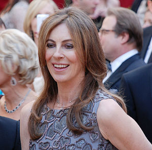 Director Kathryn Bigelow on the red carpet at ...