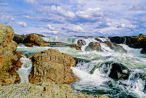 Kazan River - Kazan Falls, on the lower Kazan River, Nunavut