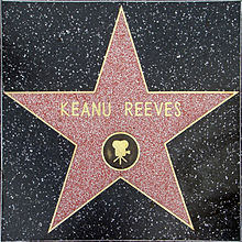 Reeves' star on the Hollywood Walk of Fame