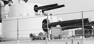 USS Kearsarge (BB-5) - Kearsarges double turret on 8 April 1900