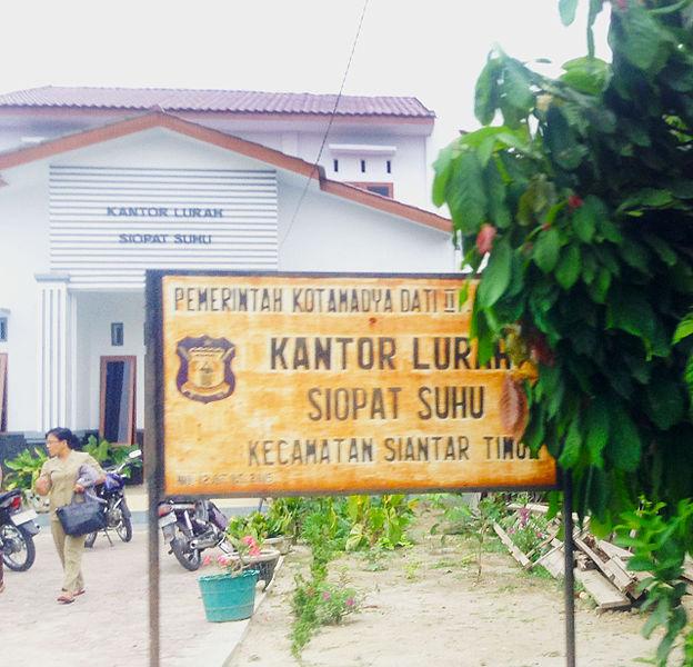 File:Kel. Siopat Suhu, Kecamatan Siantar Timur, Pematangsiantar.JPG