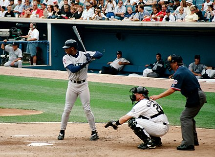 f19d2d9ada Griffey bats for the Mariners, 1997