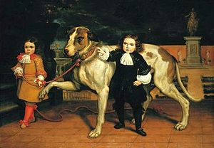 Jan van Kessel the Younger - Dwarfs with a dog