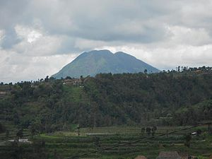 Mount Telomoyo - Mount Telomoyo seen from Ketep Pass