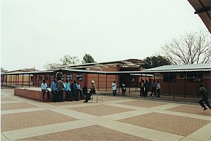 Education in Botswana - Kgari Sechele Secondary School, a government run secondary school.