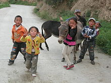 Kids on the road to the Garze Gompa above Ganzi.jpg
