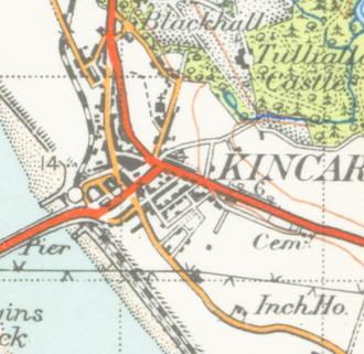 Kincardine - A map of Kincardine from 1945