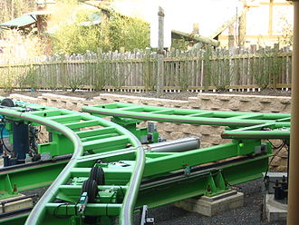 Kingda Ka - Switch track at the station's exit
