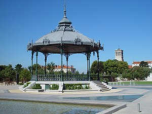 Rhône-Alpes - The Kiosque Peynet on the Champ de Mars in Valence.