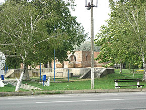 Klek, construction site of the Orthodox church.jpg