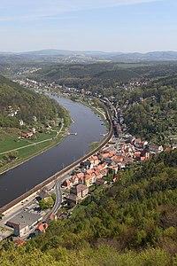 The Elbe near Festung Königstein in Germany.
