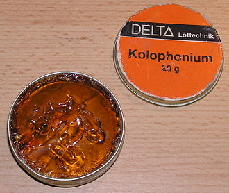 Flux (metallurgy) - Rosin used as flux for soldering