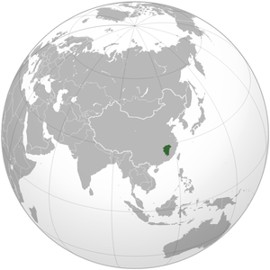 Jiangxi is highlighted on this map