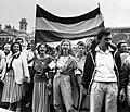 Kossuth Lajos tér, Duna tüntetés. Fortepan 9632.jpg