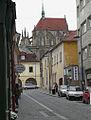 Kostel svatého Bartoloměje - pohled z Rubešovy ulice.jpg