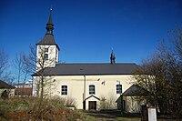 Kostel svatého Petra a Pavla - boční pohled, Brodek u Konice, okres Prostějov.jpg