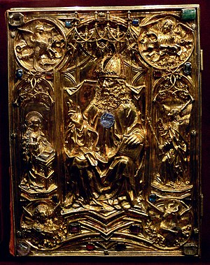 Vienna Coronation Gospels - Coronation Evangeliar cover by Hans von Reutlingen, c. 1500