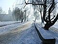 Kraków - Skałka Zimą przy moście Grunwaldzkim (styczeń 2005) - panoramio.jpg