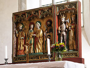 Kräklingbo Church - The altarpiece (early 16th century)