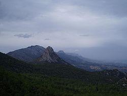 Part of the Kyrenia mountain range