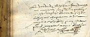 baptême de Samuel, fils d'Anthoynne Chapeleau et de Marguerite Le Roy, le 13 août 1574, à La Rochelle.