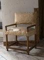 Länstol med blekt tyg, 1600-talets mitt - Skoklosters slott - 103960.tif