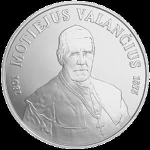 Motiejus Valančius - Litas commemorative coin dedicated to the 200th birth anniversary of Motiejus Valančius
