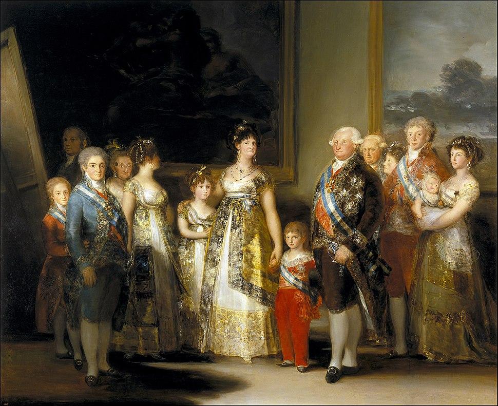 La familia de Carlos IV, Francisco de Goya
