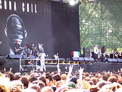 Lacuna Coil performing at the Heineken Jamming Festival 2006.