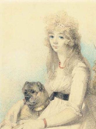 Elizabeth Smith-Stanley, Countess of Derby - Portrait of Lady Elizabeth Henrietta by George Chinnery (1794).