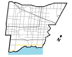 Lakeshore Road - Image: Lakeshore In Mississauga