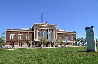 Lancaster station (Pennsylvania) - Image: Lancaster Amtrak station, Sept 2012