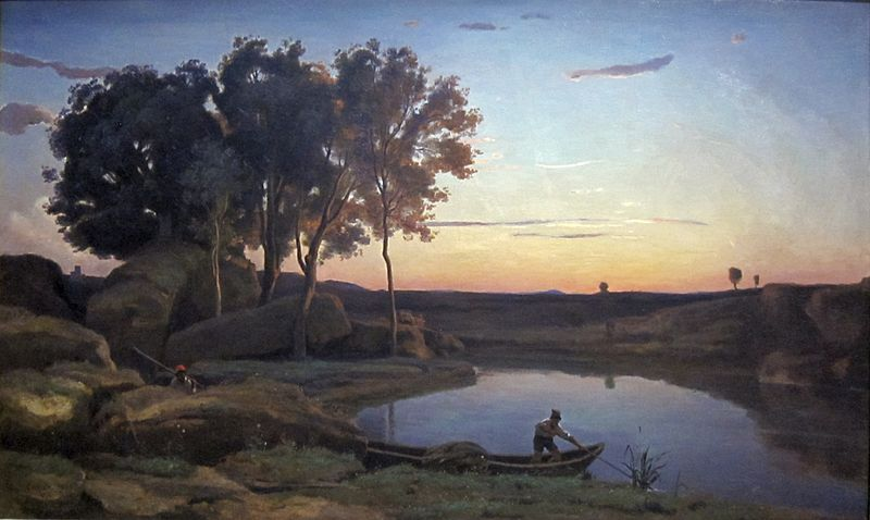 File:Landscape with Lake and Boatman by Jean-Baptiste-Camille Corot, 1839, Getty Center.JPG