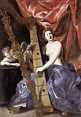 Venus plays the Harp