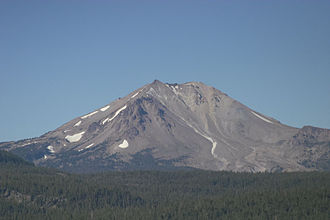 Cascade Volcanoes - Lassen Peak and Devastated Area from Cinder Cone