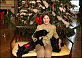 Laura Bush Barney India Miss Beazley December 2006.jpg