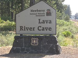 Lava River Cave - The cave is south of Bend just off Highway 97