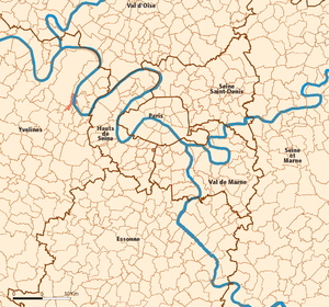 Le Pecq - Image: Le Pecq map