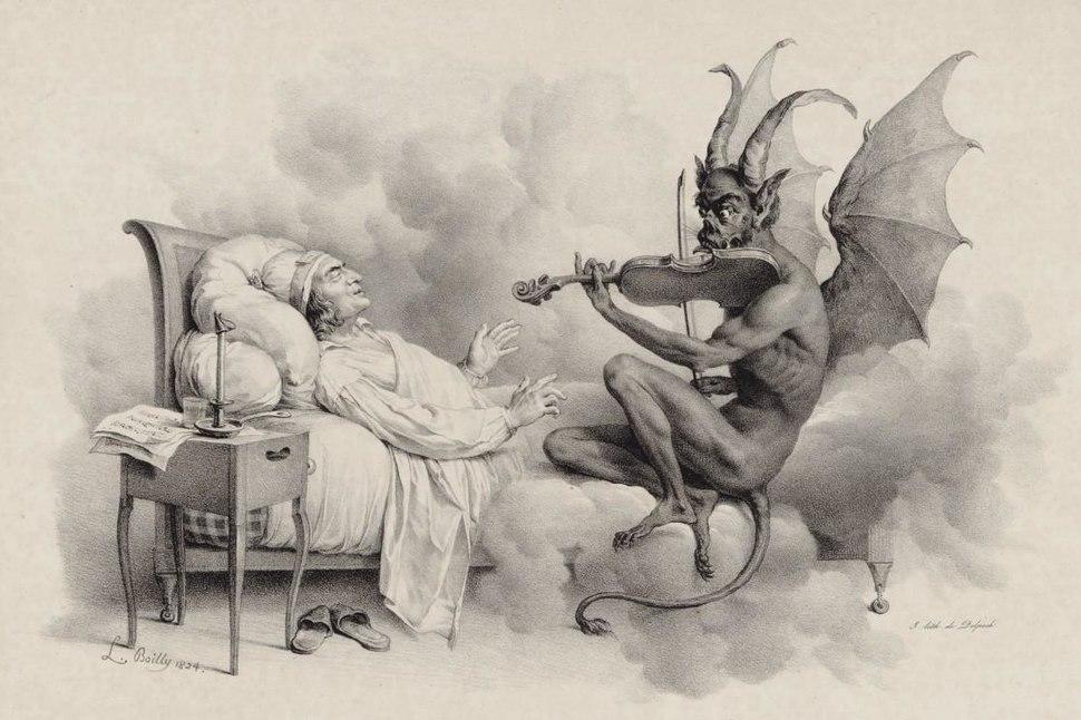 Le Songe de Tartini par Louis-Léopold Boilly 1824