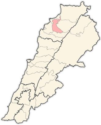 Zgharta District - Image: Lebanon districts Zgharta
