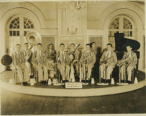 "Duke Ambassadors - George ""Jelly"" Leftwich and His Blue Devils in the late 1920s; Courtesy of the Duke University Archives"
