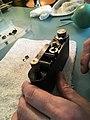 Leica II D aka Couplex rangefinder miror replacement (33244463200).jpg