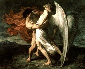 Vayishlach - Jacob Wrestling with the Angel (1865 painting by Alexander Louis Leloir)